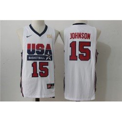 Camiseta Johnson 15 USA 1992 blanca