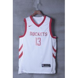 Camiseta 2018 Harden 13 blanca Houston Rockets