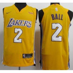 Camiseta 2018 Ball 2 amarilla Angeles Lakers