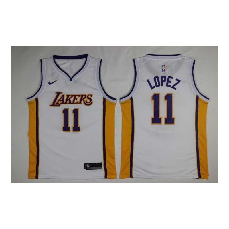 Camiseta 2018 Kuzma 0 blanca Angeles Lakers