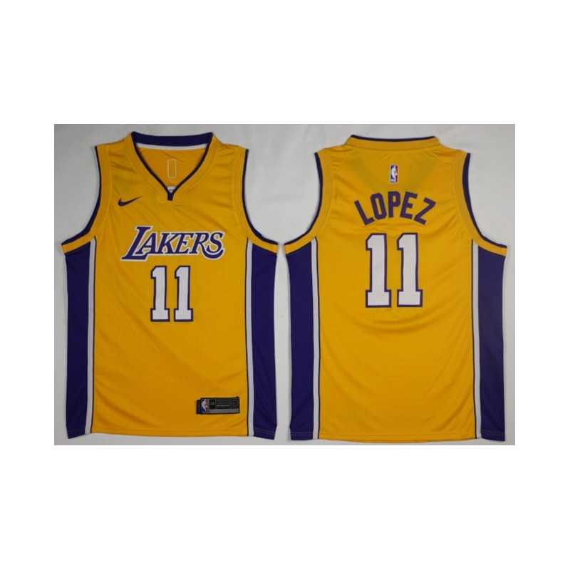 Camiseta 2018 Lopez 11 morada Angeles Lakers