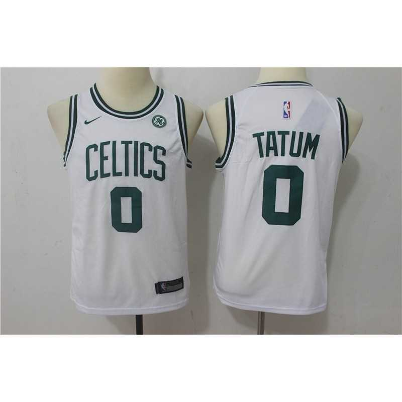 Camiseta NIÑOS Tatum 0 verde Boston Celtics 2018