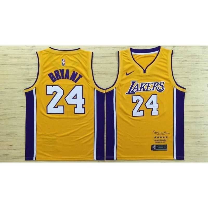 Camiseta Kobe Bryant 24 amarilla Angeles Lakers