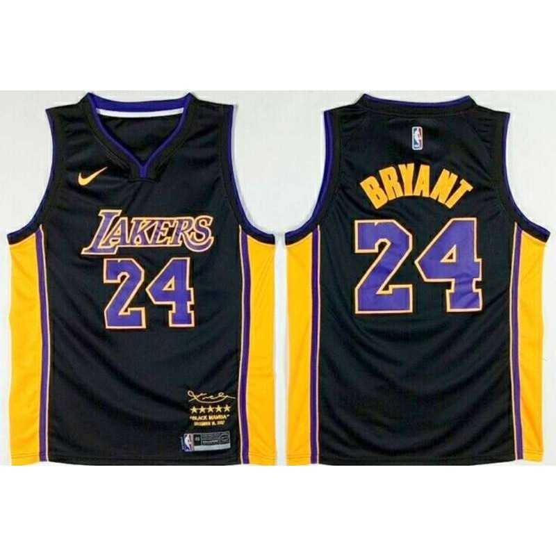 Camiseta 2018 Kobe Bryant 24 amarilla Angeles Lakers
