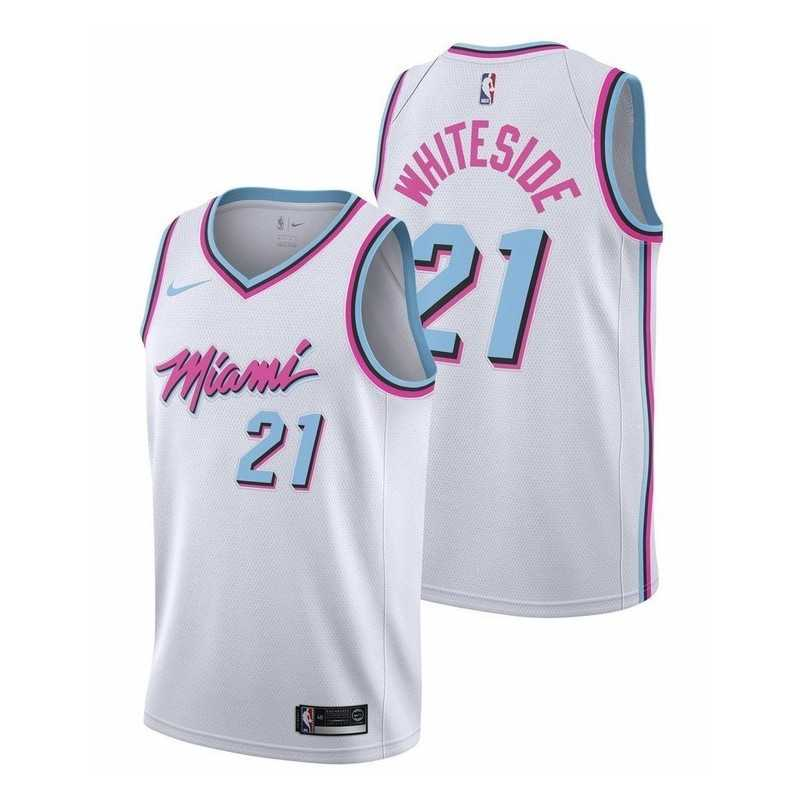 Camiseta Whiteside 21 negra Miami Heat