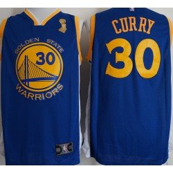 Camiseta 2018 Stephen Curry 30 azul Golden State Warriors