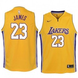Camiseta Niños 2018 Lebron James 23 amarilla Angeles Lakers