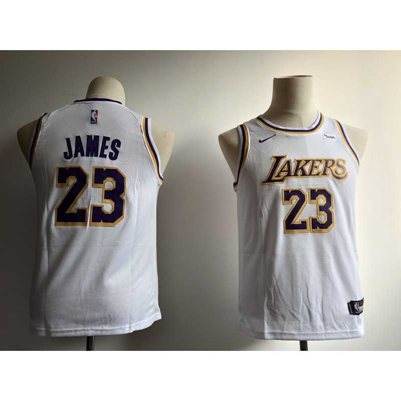 Camiseta 2018 Lebron James 23 amarilla Angeles Lakers