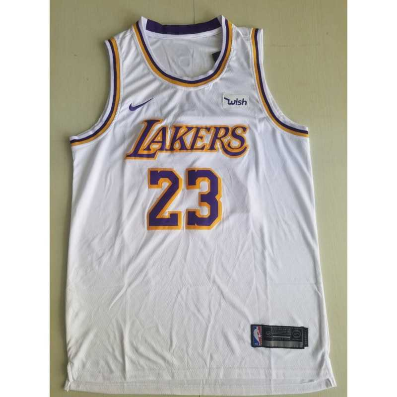 Camiseta 2018 Lebron James 23 amarilla Angeles Lakers RETRO