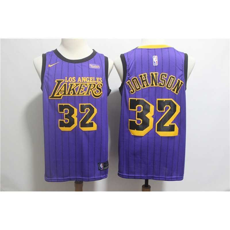 Camiseta Los Angeles Lakers Kobe Bryant 24 Morada