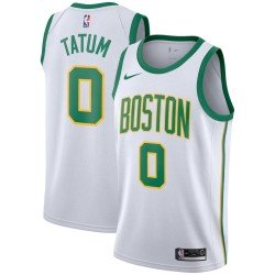 Camiseta Tatum 0 blanca / amarilla Boston Celtics 2019
