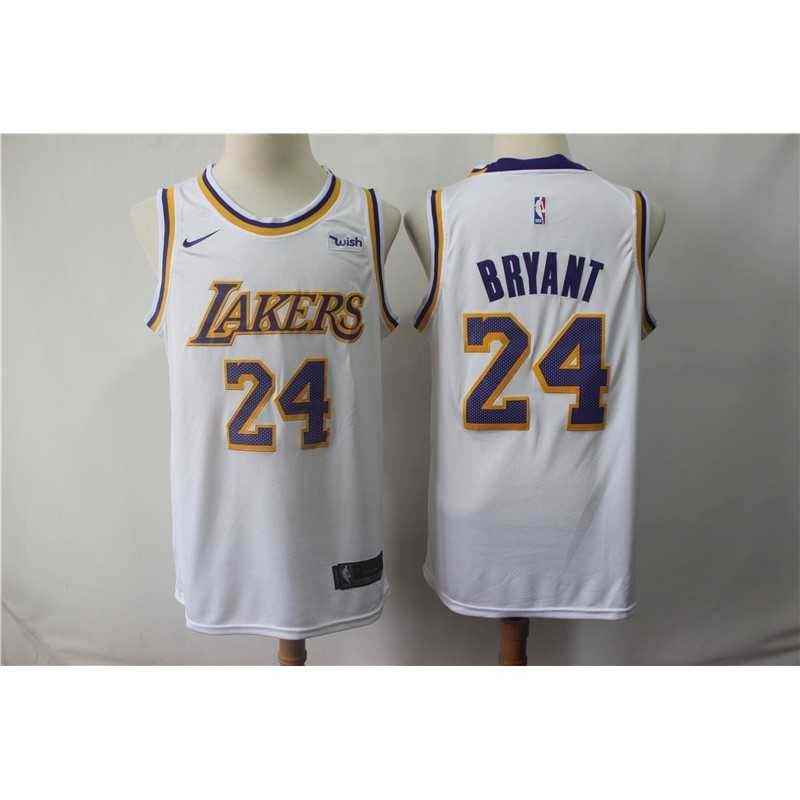 Camiseta Kobe Bryant 24 amarilla Angeles Lakers cuello redondo