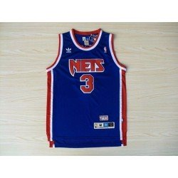 Camiseta Nets Petrovic 3 azul retro