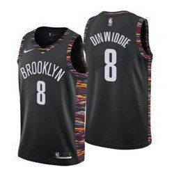 Camiseta Nets Brooklyn 8 Dinwidie negra