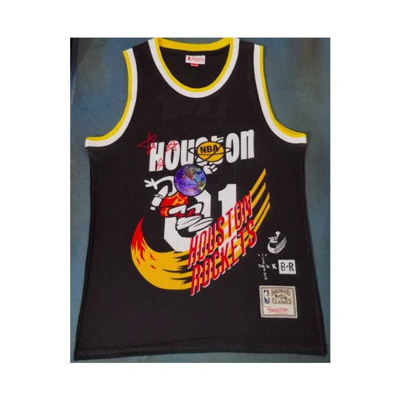 Camiseta 2019 Jack Houston Rocket Hardwood blanca