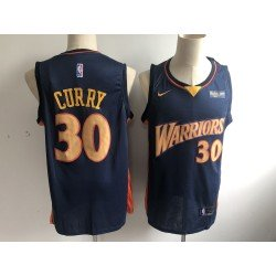 Camiseta 2019 Stephen Curry 30 azul Golden State Warriors