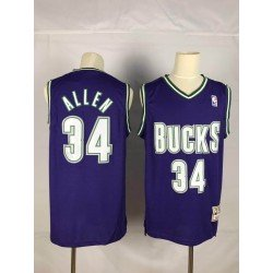 Camiseta Allen morada Milwaukee Bucks