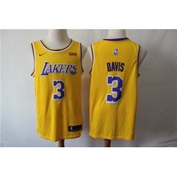 Camiseta 2019 Davis 23 amarilla Angeles Lakers