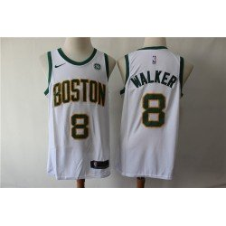 Camiseta Walker 8 blanca / amarilla Boston Celtics 2019