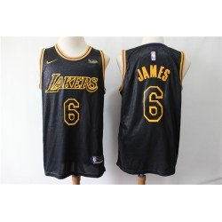 Camiseta 2019 Lebron James 6 negra b Angeles Lakers