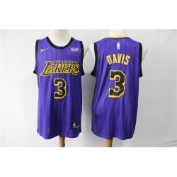 Camiseta Davis 3 morada Angeles Lakers city