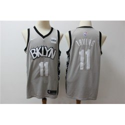 Camiseta 2020 Nets Brooklyn Irving 11 gris