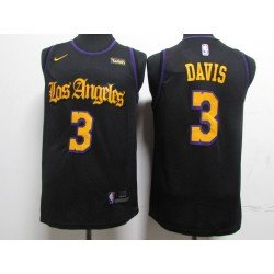 Camiseta Davis 3 negra Angeles Lakers