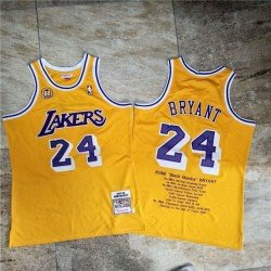 Camiseta Kobe Bryant 24 amarilla Angeles Lakers MNO