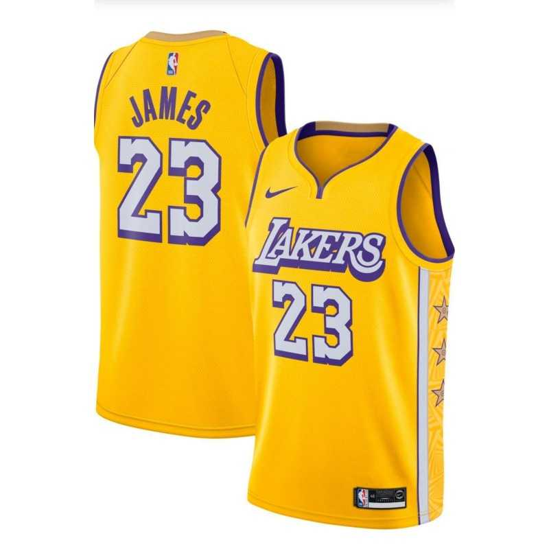 Camiseta Kobe Bryant 24 Angeles Lakers Gold