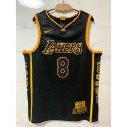 Camiseta Kobe Bryant 24-8 Angeles Lakers Black Tiger