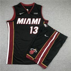 Camiseta y pantalon Butler 22 negra Miami Heat city 2020
