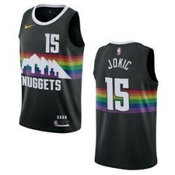 Camiseta 2020 Jokic 15 negra Denver Nuggets