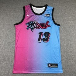 Camiseta Adebayo 13 rosa Miami Heat city